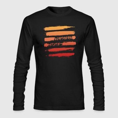 Samurai Brush Stroke Sunset - Men's Long Sleeve T-Shirt by Next Level