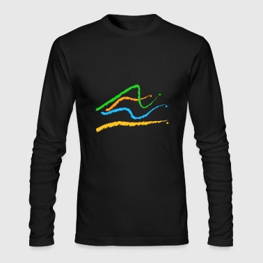 traces lines - Men's Long Sleeve T-Shirt by Next Level