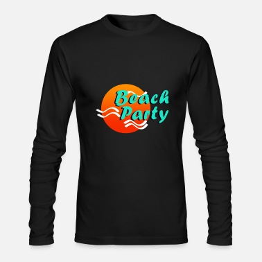 Beach Party - Men's Long Sleeve T-Shirt by Next Level