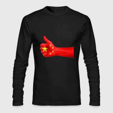 china - Men's Long Sleeve T-Shirt by Next Level