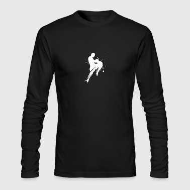 Kickboxing Shadow Humour logo - Men's Long Sleeve T-Shirt by Next Level