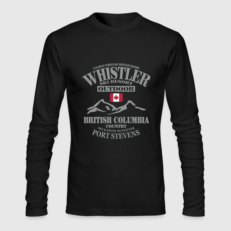 Whistler - Canada Ski Resort - Men's Long Sleeve T-Shirt by Next Level