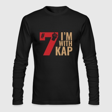 Take A Knee I Am With Kap Shirt Nr 7 - Men's Long Sleeve T-Shirt by Next Level