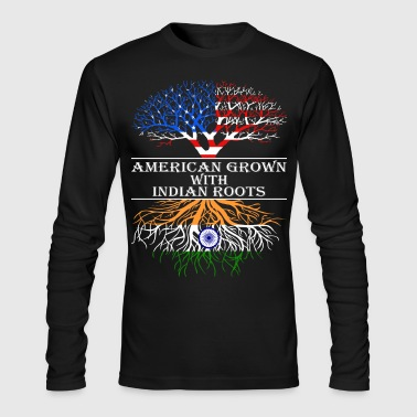 American Grown With Indian Roots - Men's Long Sleeve T-Shirt by Next Level
