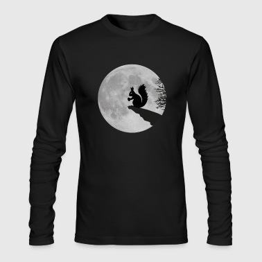 Squirrel full moon squirrel acorn night - Men's Long Sleeve T-Shirt by Next Level