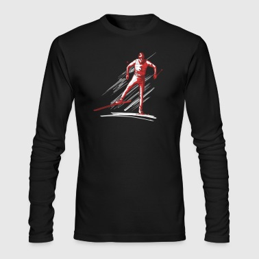 cross-country ski - Men's Long Sleeve T-Shirt by Next Level