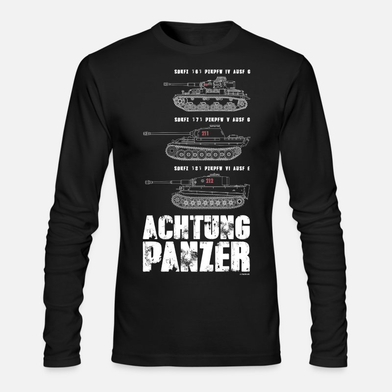 Tank Long sleeve shirts - ACHTUNG PANZER - Men's Longsleeve Shirt black