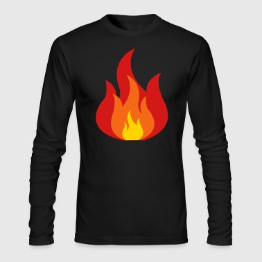 Fire, Flames - Men's Long Sleeve T-Shirt by Next Level
