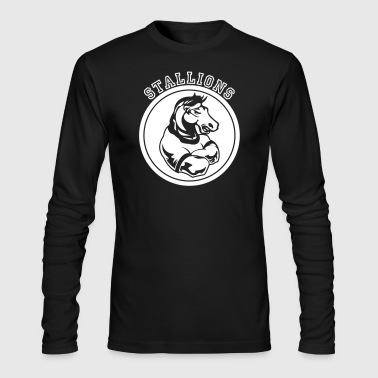 Stallions or Stallion Team Graphic - Men's Long Sleeve T-Shirt by Next Level