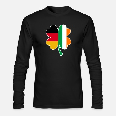 Clover 50% Irish 50% German - St Patrick's day gift - Men's Long Sleeve T-Shirt by Next Level