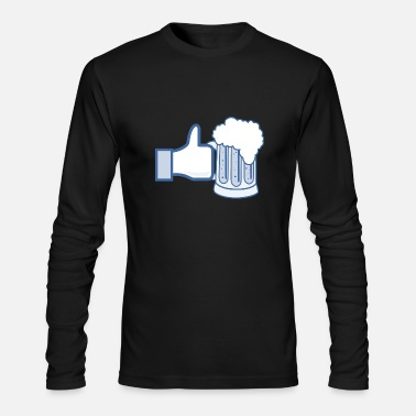 Text Like Beer - Add Your Own Text - Men's Long Sleeve T-Shirt by Next Level