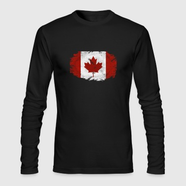 Maple Leaf- Canadian Flag - Men's Long Sleeve T-Shirt by Next Level