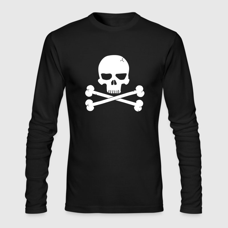 Skull with Crossbones Beneith - Men's Long Sleeve T-Shirt by Next Level