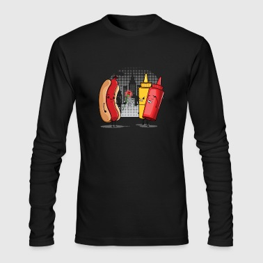 Hot Dog Love Ketchup - Men's Long Sleeve T-Shirt by Next Level