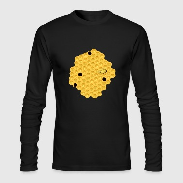 Honeycomb Bee Bumble Gift Present - Men's Long Sleeve T-Shirt by Next Level