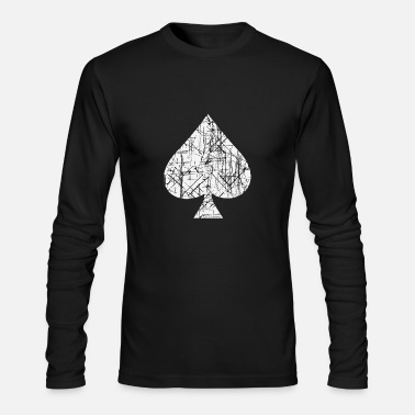 Card Spades Symbol Cards - Men's Long Sleeve T-Shirt by Next Level