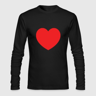 Red Heart Red Heart - Men's Long Sleeve T-Shirt by Next Level