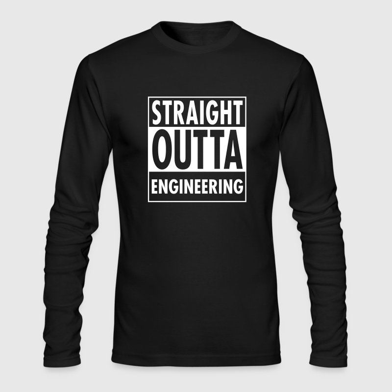 Straight Outta Engineering - Men's Long Sleeve T-Shirt by Next Level