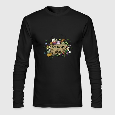 VEGAN and Chill - Vegan VipeZ - Men's Long Sleeve T-Shirt by Next Level