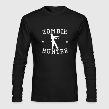 Zombie Hunter Zombie Hunter Zombie Silhouette - Men's Long Sleeve T-Shirt by Next Level