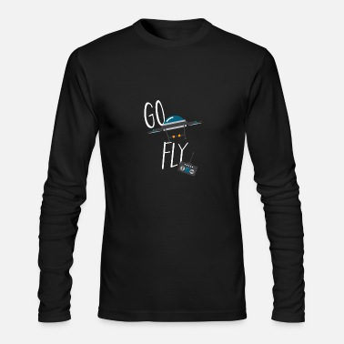 Bmx Drone - Go Fly - Men's Long Sleeve T-Shirt by Next Level