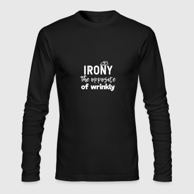 Irony - Men's Long Sleeve T-Shirt by Next Level