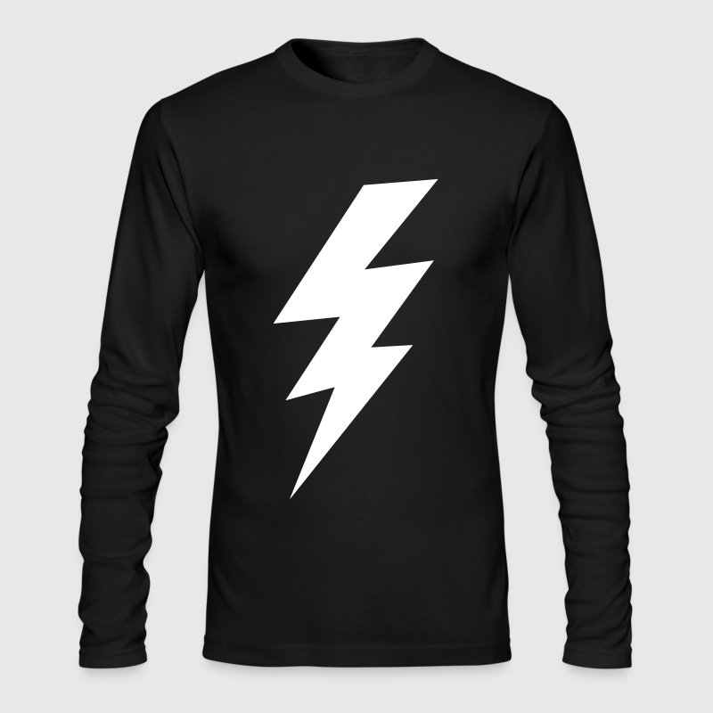 thunder lightning bolt flash - Men's Long Sleeve T-Shirt by Next Level