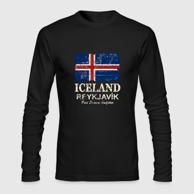 Iceland Flag - Vintage Look - Men's Long Sleeve T-Shirt by Next Level
