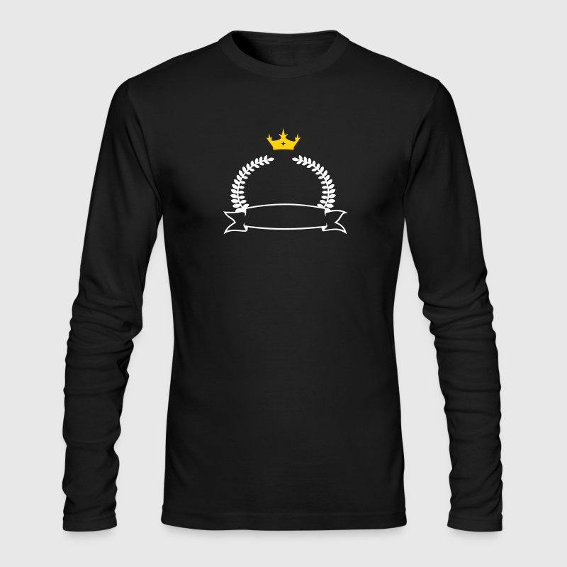 laurel wreath, banner & crown (2c) - Men's Long Sleeve T-Shirt by Next Level