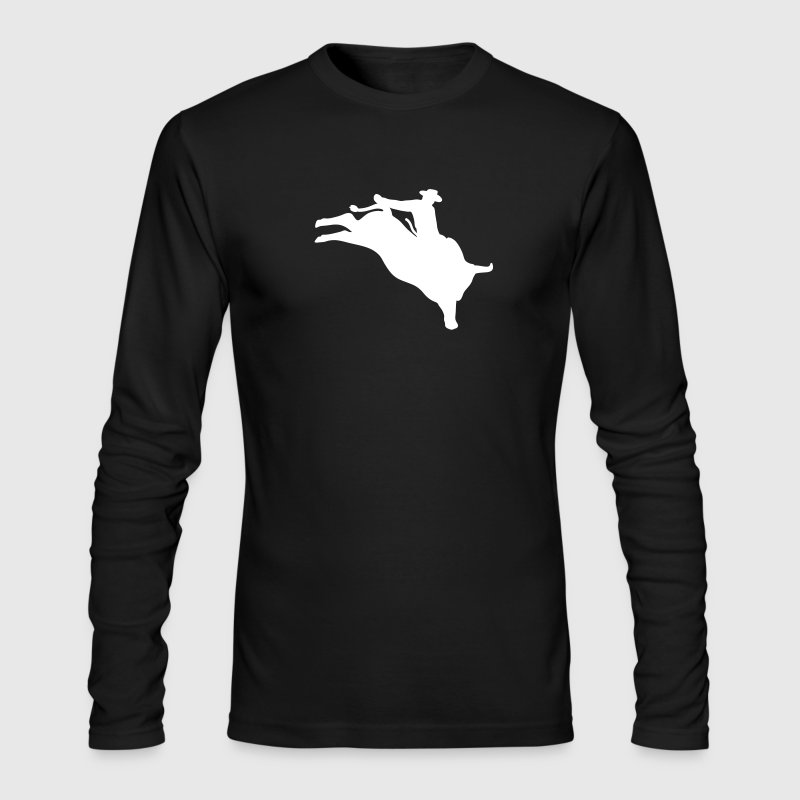 bull rider - Men's Long Sleeve T-Shirt by Next Level