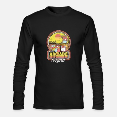 Video Game Arcade Wizard - Men's Long Sleeve T-Shirt by Next Level