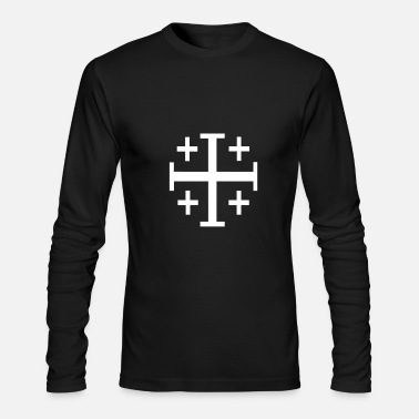 Christian Christian Cross - Men's Long Sleeve T-Shirt by Next Level