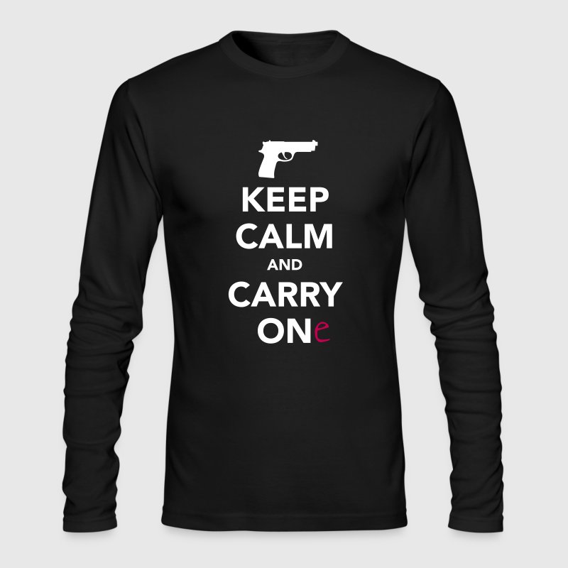 Keep Calm and Carry One - Pro Gun - Men's Long Sleeve T-Shirt by Next Level