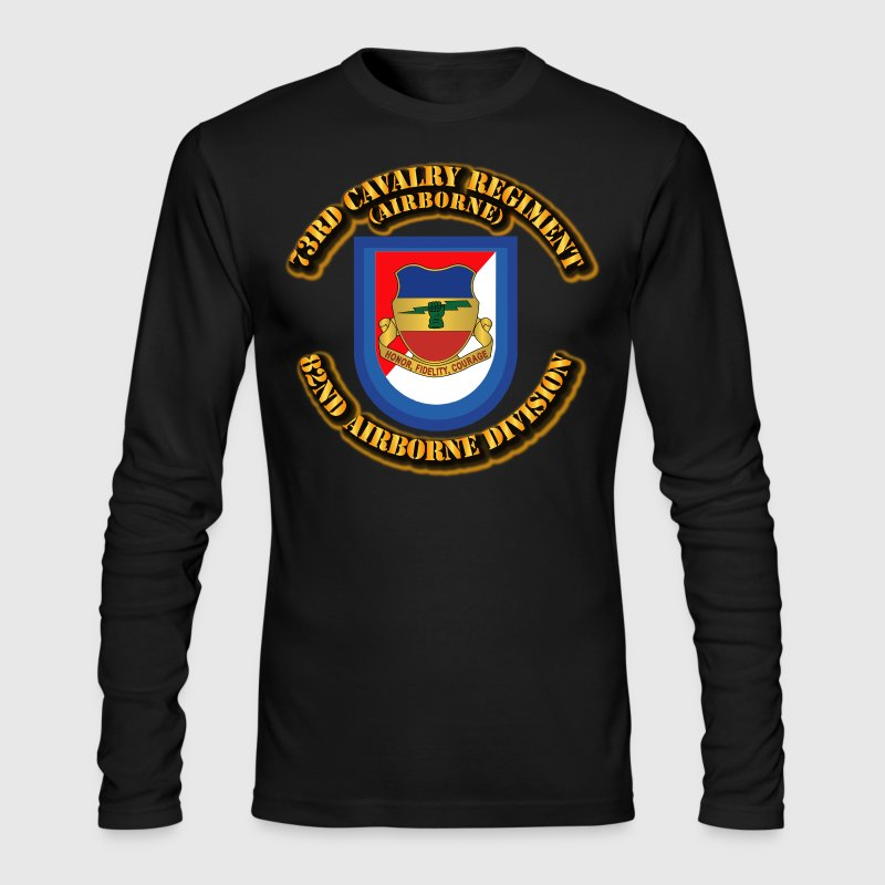 Flash - 73rd Cavalry Regiment - Airborne - Men's Long Sleeve T-Shirt by Next Level