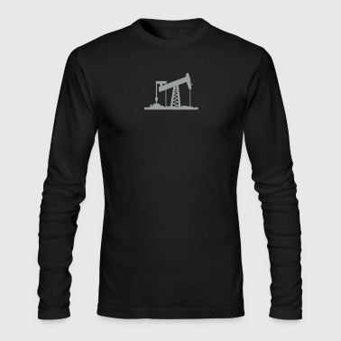 oil rig (1c) - Men's Long Sleeve T-Shirt by Next Level