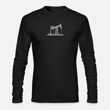 Oil oil rig (1c) - Men's Long Sleeve T-Shirt by Next Level