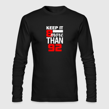 8 More Than 92 100 - Men's Long Sleeve T-Shirt by Next Level