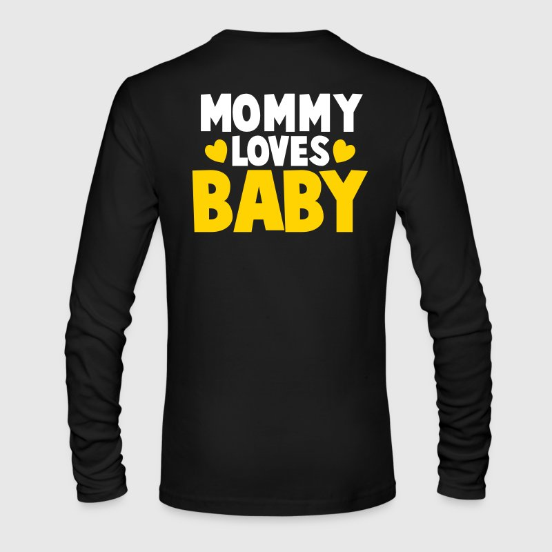 MOMMY LOVES BABY cute mom shirt - Men's Long Sleeve T-Shirt by Next Level