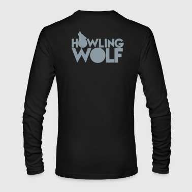 HOWLING WOLF wolves howling at the moon silver - Men's Long Sleeve T-Shirt by Next Level