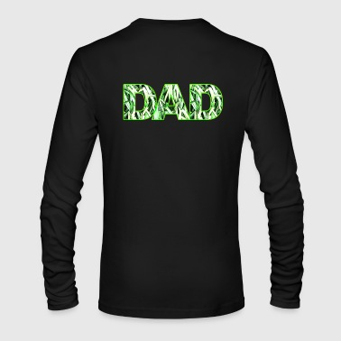 artTS dad grass mow lawn - Men's Long Sleeve T-Shirt by Next Level