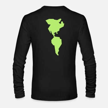 South America simple americas AMERICA CANADA MEXICO South AMERICA - Men's Long Sleeve T-Shirt by Next Level