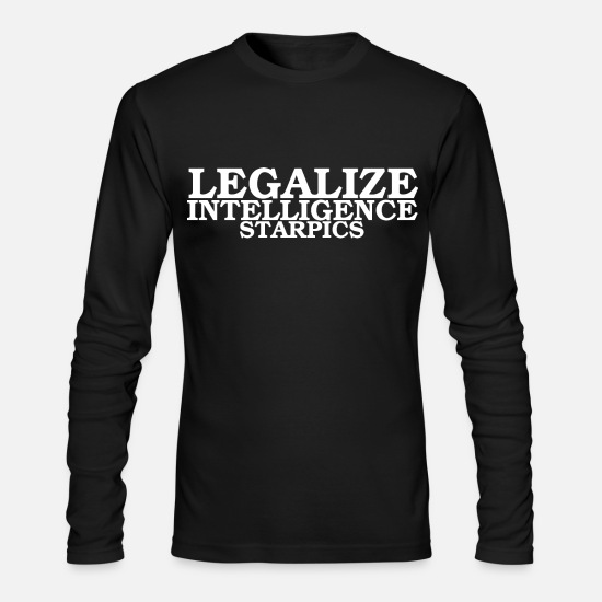 Birthday Long-Sleeve Shirts - legalize intelligence - Men's Longsleeve Shirt black