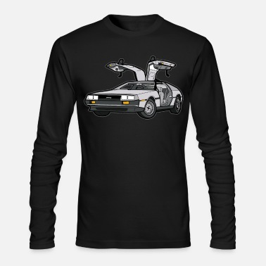 Future DeLorean 12 Back to the Future Oldtimer Car - Men's Longsleeve Shirt