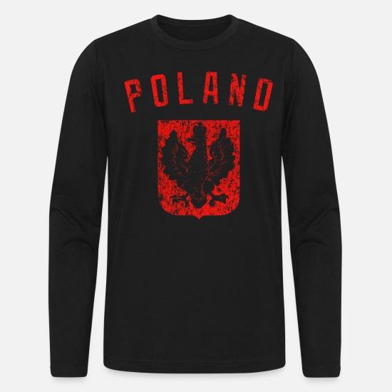 Polska Crest Coat of Arms Poland Polish Black T Shirt