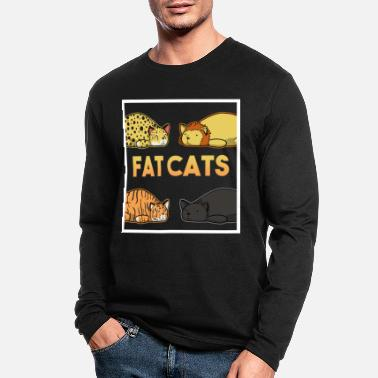 Cat Collage Fat Cats Collage - Men's Longsleeve Shirt