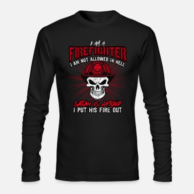 Fighter Firefighter Fire Department Firefighting Burn Gift - Men's Long Sleeve T-Shirt by Next Level