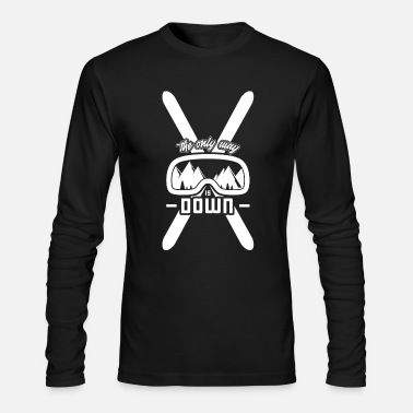Ski Bindings Ski holidays gift idea winter sports alpine skiing - Men's Long Sleeve T-Shirt by Next Level