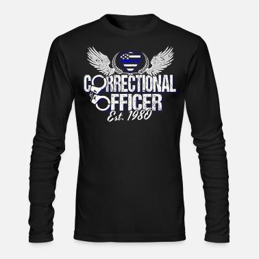 Prison Corrections Officer Est. 1980 Proud Prison Guard - Men's Longsleeve Shirt