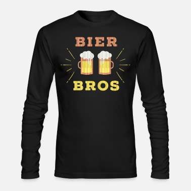 Brewery Bier Bros Funny Slogan Party Gift friend - Men's Longsleeve Shirt