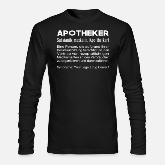 Pharmacist Long-Sleeve Shirts - Apothecary Mens Womens T-Shirt Definition - Men's Longsleeve Shirt black